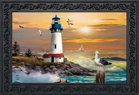 Sunset Lighthouse Summer Doormat