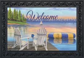 Waterfront Retreat Nautical Doormat