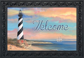 Coastal Lighthouse Summer Doormat