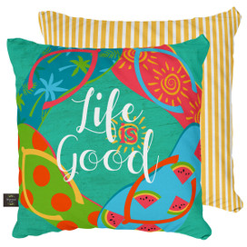 Flip Flops Summer Decorative Pillow