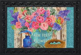 Farm Fresh Peonies Spring Doormat