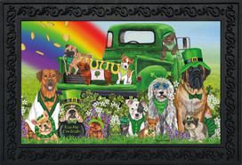 Lucky Pups St. Patrick's Day Doormat