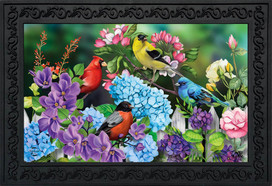 Feathered Friends Spring Doormat