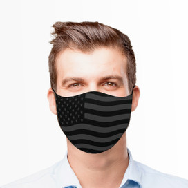 Gray American Flag Reusable Cloth Face Mask