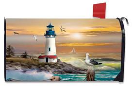 Sunset Lighthouse Summer Mailbox Cover