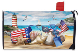 Sea To Shining Sea Summer Mailbox Cover