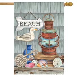 Beachy Vibes Summer House Flag