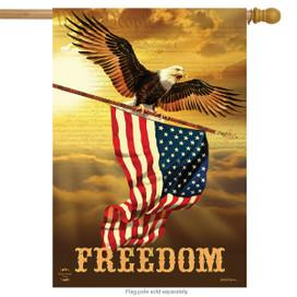 Freedom Eagle Patriotic House Flag