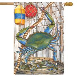 Blue Crab Bushel Summer House Flag