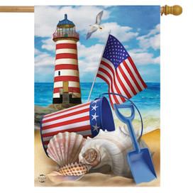 Sea To Shining Sea House Flag