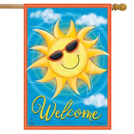 Summer Sunshine House Flag