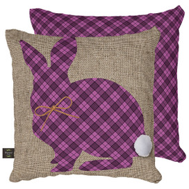 Cottontail Rabbit Spring Decorative Pillow