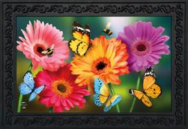 Garden Gerber Daisies Spring Doormat
