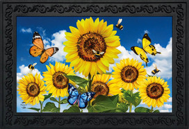Sunflowers and Bees Spring Doormat