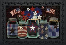 American Mason Jar Patriotic Doormat