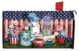 American Picnic Summer Large Oversized Mailbox Cover