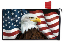 American Eagle Patriotic Large Oversized Mailbox Cover