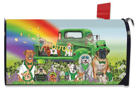 Lucky Pups St. Patrick's Day Mailbox Cover