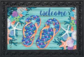 Enjoy Life Flip Flops Summer Doormat