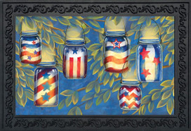 Patriotic Luminaries Summer Doormat