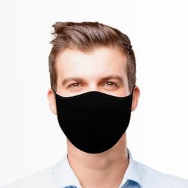Black Reusable Cloth Face Mask