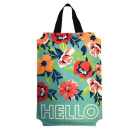 Hello Floral Burlap Door Hanger