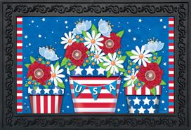 American Planter Patriotic Doormat