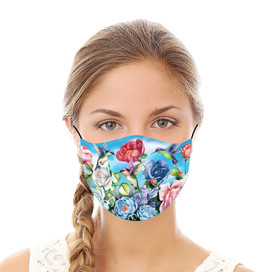 Hummingbirds and Roses Reusable Cloth Face Mask
