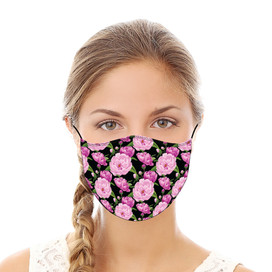 Pink Peonies Reusable Cloth Face Mask