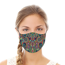Bright Paisley Reusable Cloth Face Mask