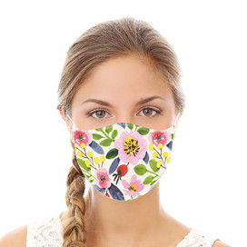 Watercolor Floral Reusable Cloth Face Mask