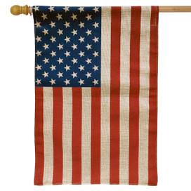 American Flag Burlap Flag House Flag