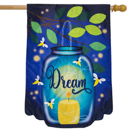 Dream Mason Jar Applique Summer House Flag