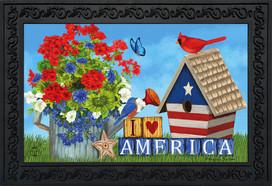 I Love America Patriotic Doormat