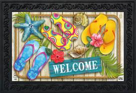 Flip Flops Beach Summer Doormat