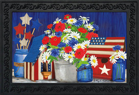 Red White and Blue Patriotic Doormat