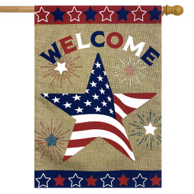 American Star Burlap House Flag