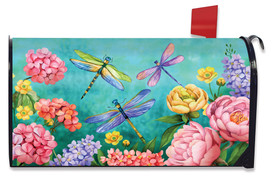 Dragonfly Garden Large / Oversized Mailbox Cover