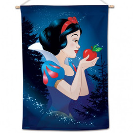 Snow White With Apple House Flag