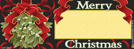 Christmas Mistletoe Mailbox / Door Magnet