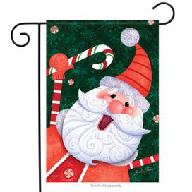 Candy Cane Santa Holiday Garden Flag