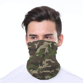 Camo Wrap-Around Face Covering Neck Gaiter