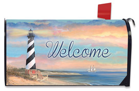 Coastal Lighthouse Summer Magnetic Mailbox Cover