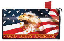 God Bless America Patriotic Magnetic Mailbox Cover