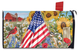 America the Beautiful Summer Mailbox Cover