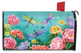 Dragonfly Garden Spring Mailbox Cover