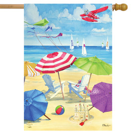 Umbrella Coast Summer House Flag