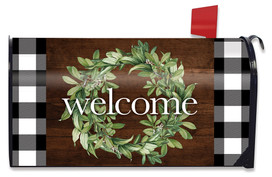 Farmhouse Wreath Spring Mailbox Cover