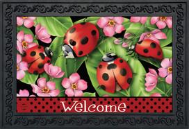 Ladybugs on Leaves Spring Doormat