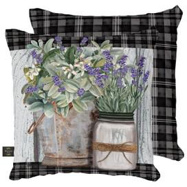 Farmhouse Flowers Spring Decorative Pillow